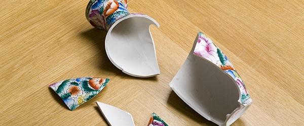 zerbrochene Vase