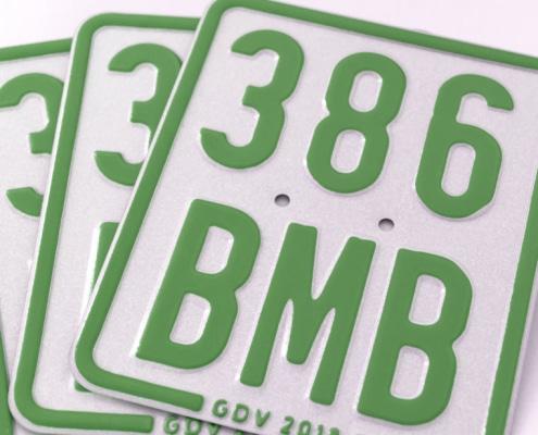 Versicherungskennzeichen 2019 Antrag Mofaschild grün